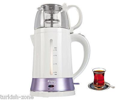 Turkish Electric Tea Maker Tea Pot Machine Kettle Caydanlik Teapot From UK LILIA