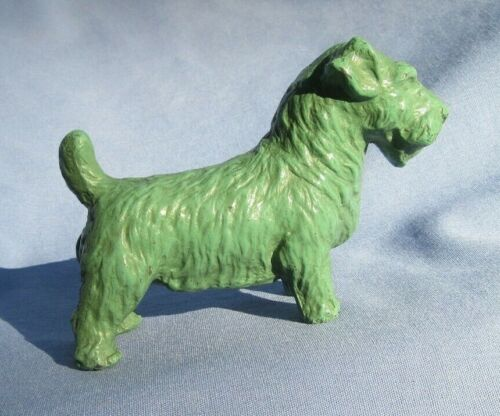 SEALYHAM CESKY TERRIER FRANKART DECO GREEN COLOR DOG 4""