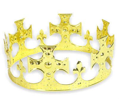 Krone Königskrone aus Metall schlicht Metallkrone für Erwachsene 126108013