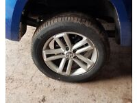 VOLKSWAGEN AMAROK CANTERA 19 INCH ALLOY WHEELS FIT T5 TRANSPORTER CONTINENTAL TYRES