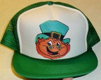 St. Patrick's Day Leprechaun Snapback hat (Mesh Sides & Back) IRELAND Brand New!