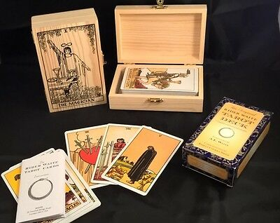 Tarot cards The Original Rider Waite Set Handcrafted box+ pouch TAROT DECK BOX99