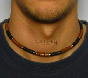 AUSTRALIA-WAVE-HUNTERS-MENS-BEADED-SURFERS-NECKLACE-PERFECT-GIFT-SPORT-TRIBAL