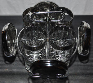 Decorative glasses with glass holder and coasters Kitchener / Waterloo Kitchener Area image 6