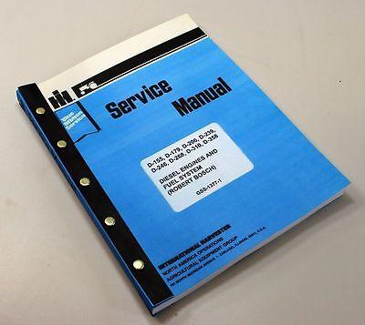 Ih Dresser 125 Series C E 125c 125e Crawler Loader Engine Service Repair Manual