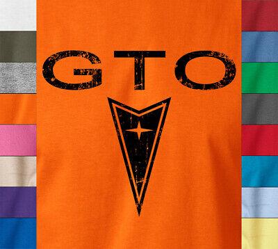 Pontiac GTO T-Shirt Car Collector Retro Logo Muscle Car Mechanics - Ringspun (Logo Muscle Shirts)