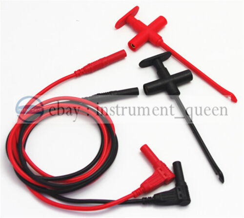 Insulation Piercing Clip test probe +4mm  Banana Silicone Test Leads