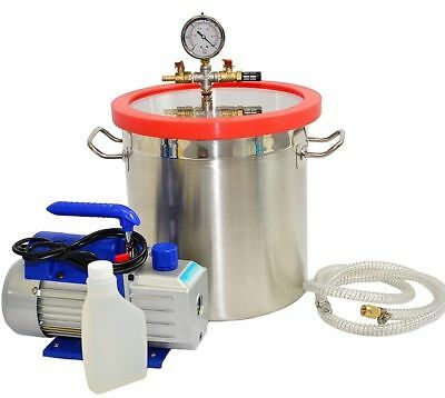 3 Gallon Vacuum Chamber And 3 Cfm Single Stage Pump To Degassing Silicone