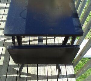 """Metal Drop Leaf Table """"Art Deco"""" - Rare- Outdoor/Indoor $40"""