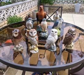 Birds of prey decanters
