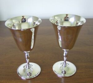 Vintage Silver Plate Wine Glasses (1970s)