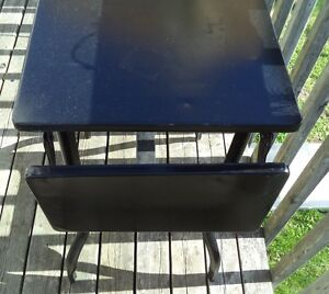 Small Metal Drop Leaf Table - Great Shape - Indoor/Outdoor -$40