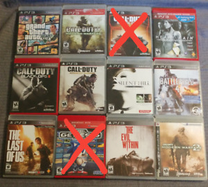 ADULT OWNED PS3 GAMES ALL IN EXCELLENT CONDITION