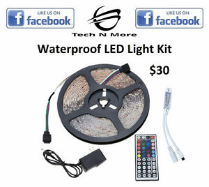 Waterproof LED Light Kits (Multicolored)(Dimmable)
