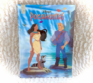 1995 Disney Pocahontas Thick Colour STUNNING Illustrated Book