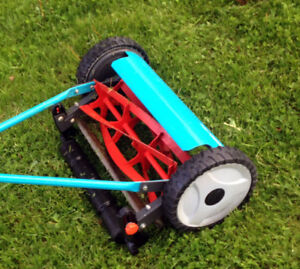 "Like New Gardena 16"" Hgh Cut Reel Mower SEE VIDEO"