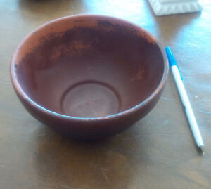 Two Pc. Redware Pottery Bowl and Pitcher