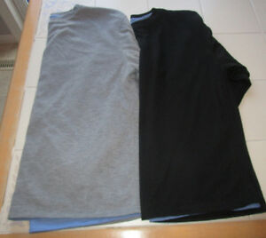 2x Men's long sleeve athletic lined shirts size Lg *barely worn