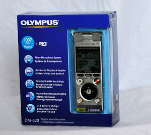 Olympus DM-620 Digital Voice Recorder SILVER 3-Mic System (new)