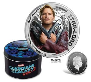 2017 Marvel Guardians of Galaxy STAR LORD Silver Proof Coin