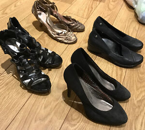 Four sets of shoes for sale, lightly worn, different brand names Peterborough Peterborough Area image 2