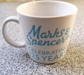 COLLECTABLE & RARE MARKS AND SPENCER MUG celebrating 125 YEARS GREAT