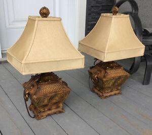Deux très belle lampe de salon ou de table de nuit .