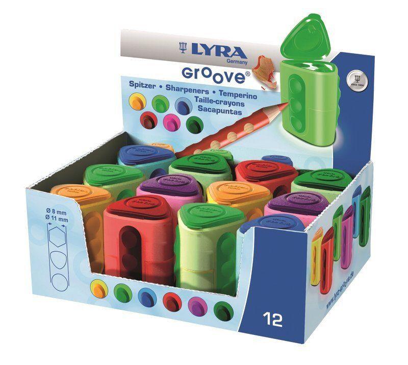Lyra Doppelspitzerdose Groove zweifach doppel Spitzerdose Anspitzer Spitzdose