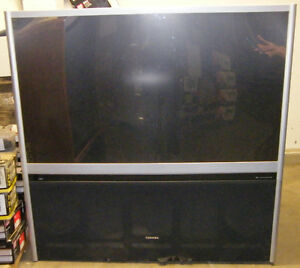 2 Large floor model TVs Hitachi Toshiba London Ontario image 2