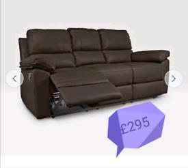 MASSIVE CLEARANCE!! 3 seater sofa. Dark chocolate. Was £450.00