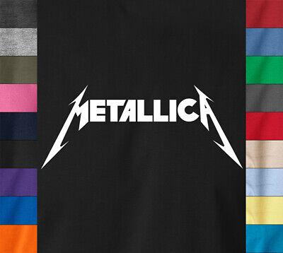 80s Metal Rock - METALLICA Logo T-Shirt Classic 80's Hard Metal Rock Concert James Hetfield Tee