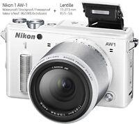 Nikon 1 AW-1 Blanc avec différents Accessoires