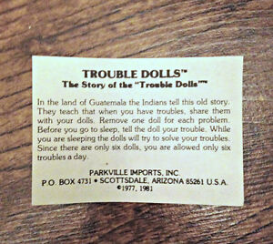 Trouble/Worry Dolls from The Margaret Woodbury Strong Museum London Ontario image 5