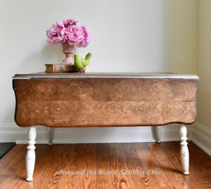 Antique shabby chic gate leg coffee table