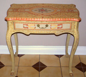 Decorated Queen Anne style Hall Table/Desk, excellent condition