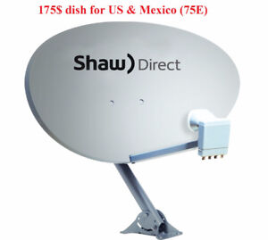 SHAW DIRECT satellite dish with new XKU LNB for US and Mexico