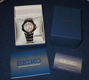 Brand New Men's Seiko Coutura 2 Tone Watch w/ Box & Papers