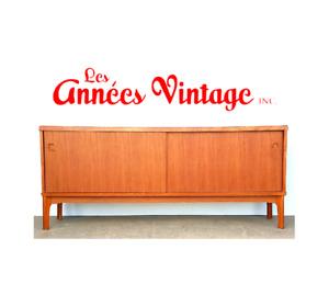 Bahut Buffet Vintage 1960 teak Credenza Mid Century