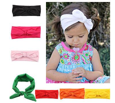 (Baby Toddler Girls Kids Bunny Rabbit Bow Knot Turban Headband Hair Band Headwrap)