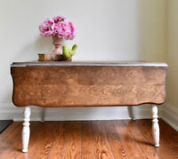 Antique shabby chic milk milk coffee table