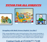 Tutor* Montreal independent tutor !
