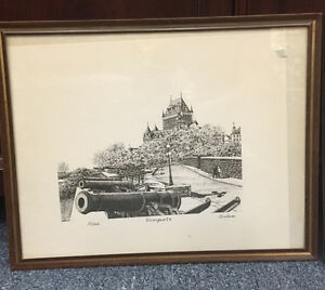 LOT OF THREE FRAMED PRINTS QUEBEC MISSISSAUGA COLLECTIBLES