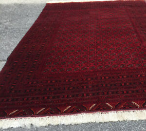 12` x 8` Bukhara Afghan hand knitted area rug for sale
