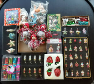 Many Unique Christmas Ornaments (new)