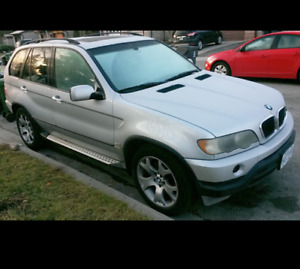 2002 BMW X5 SUV, -e-test/certified-fixer upper or to part out