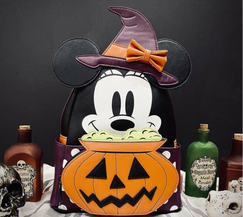 ⭐️SHIPS TODAY⭐️ Loungefly X LASR Disney Minnie Witch Cosplay Mini Backpack NEW!!