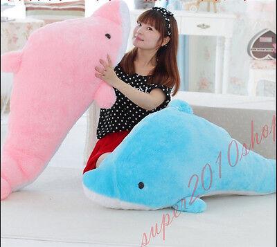 Giant Dolphin Stuffed Animal Plush Soft Toy Pillow Bolster Cushion dolls - Giant Dolphin Stuffed Animal