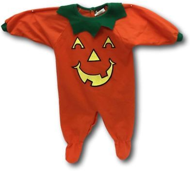 Baby Halloween Costume Pumpkin Jack O Lantern Size 12 Months Jump Suit - Jumper Jack Kostüm