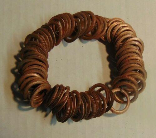 "Lot of 75 GM AC 14mm 5/8"" Vintage Copper Spark Plug Gaskets Compression Rings -"