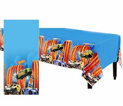 Hot Wheels Wild Racer Table Cover Birthday Party Decoration Cars Table - Hot Wheels Birthday Decorations
